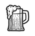 beer mug icon hand drawn style vector image