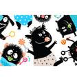 bizarre humor bakids monsters background vector image vector image