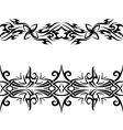 black celtic pattern vector image