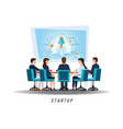 business startup with business people vector image vector image