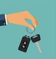 buying the car the hand holding the car key with vector image vector image