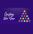 christmas and new year greeting card creative vector image vector image