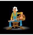 Classical Guitar Singer vector image