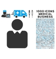 Client Icon with 1000 Medical Business Symbols vector image vector image
