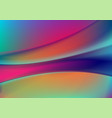 colorful neon flowing liquid waves abstract vector image vector image