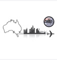 Commonwealth Of Australia Skyline Buildings vector image