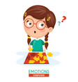 confused kid emotion vector image