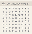 construction line icons b vector image vector image