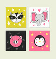 cute for card print on clothes vector image vector image