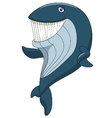 Cute whale cartoon waving vector image