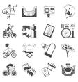 Cycling icon set black vector image vector image
