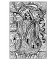 death engraved fantasy vector image