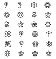 Flowers and Floral Line Icons 4 vector image