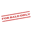 For Sale Only Watermark Stamp vector image vector image