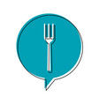 fork restaurant sign icon image vector image vector image
