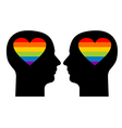 Gay love vector image
