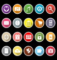 General application icons with long shadow vector image vector image