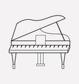 grand piano icon line element vector image