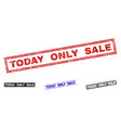 grunge today only sale scratched rectangle stamps vector image vector image