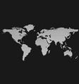 halftone circle pattern world map background vector image