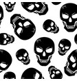 halloween scary fanged skull pattern seamless vector image vector image