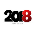 happy new year 2018 text vector image vector image