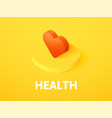 health isometric icon isolated on color vector image vector image