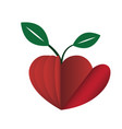 heart love young plant flat icon vector image vector image