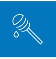 Honey dipper line icon vector image vector image