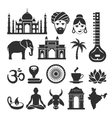India icons vector image vector image