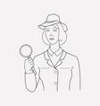 investigator icon line element vector image vector image