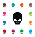 isolated scary icon pirate element can be vector image vector image