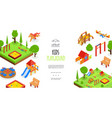 isometric kids playground colorful template vector image vector image