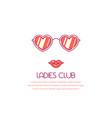 ladies club concept banner vector image vector image