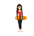 lifeguard woman vector image