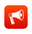 loudspeaker icon digital red vector image vector image