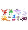 magic dragons fantasy funny creatures big flying vector image vector image