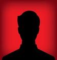 male profile picture vector image vector image