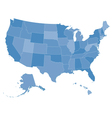 map of the united states vector image vector image