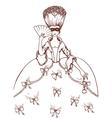 Masquerade woman vector image vector image