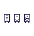 military rank army epaulettes set vector image vector image