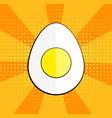 minimalist egg icon symbol pop art style vector image