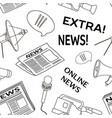 news set pattern vector image