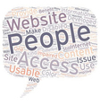 OGWU accesibility and website usability text vector image vector image