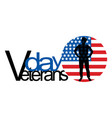 on the theme veterans day vector image vector image