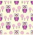 pattern with owl vector image