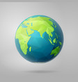 polygon east earth hemisphere on light vector image vector image