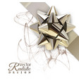 realistic golden bow vector image vector image