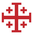 red jerusalem cross cross knightly order of vector image