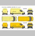 renault master cargo van lwb l3 fwd 2014-present vector image vector image